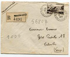 PYRENEES ATLANTIQUES De MAULEON SOULE    Env. Recom. De   1951 Avec Dateur A 6 - Marcophilie (Lettres)