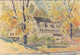 "ETATS-UNIS--BEDFORD Village--NINO'S  ""cucina Classica ""--illustration  David C. BAKER --voir 2 Scans - NY - New York"