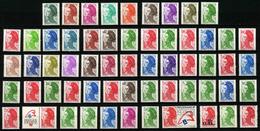 FRANCE -  LIBERTE DE GANDON - COMPLET 59 TIMBRES ** - 1982-90 Libertà Di Gandon