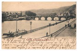 CPA Dos Non Divisé : NAMUR - Promenade De La Meuse (Boulevard Ad Aquam ) - Namur