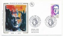 """FRANCE - Enveloppe - Cachet Temporaire """"CHARLES DE GAULLE 100° Anniversaire De Sa Naissance"""" - PARIS 22.11.1990 - De Gaulle (General)"""