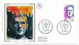 """FRANCE - Enveloppe - Cachet Temporaire """"XX° Anniv De La Mort Du Général De Gaulle"""" - Colombey 9.11.1990 - De Gaulle (General)"""
