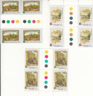 Australia 1982 MNH Scott #839-#841 Set Of 3 Gutter Blocks Of 4 Christmas Cards - 1980-89 Elizabeth II