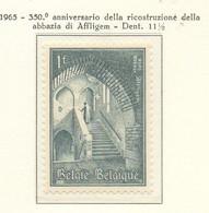 PIA - BELGIO - 1965 : 35o° Della Ricostruzione Dell' Abbazia Di Affligem - (Yv  1334) - Cristianismo
