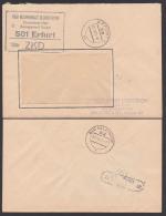 ERFURT ZKD-Brief VEB Kombinat Robotron Zentralvertrieb KSt. In Schwarz 1971 - Oficial