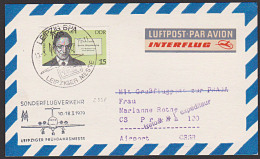 Germany East DDR 2338 Sonderflugverkehr N. Prag Alfred Döblin Buchtitel Berlin Alexanderplatz - Covers
