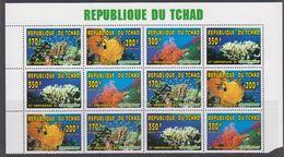 Republique Du Tchad 1996 Greenpeace Corals  3x4v ** Mnh (F7392) - Tsjaad (1960-...)