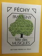 8745 -Pampigny L'Echo Du Chêne 1988 Fête Des Musiques Suisse Féchy - Musique