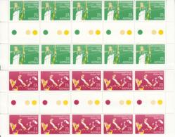 Australia 1982 MNH Scott #842-#845 Commonwealth Games Set Of 4 Gutter Blocks Of 10 - 1990-99 Elizabeth II