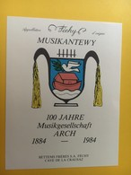 8746 - Musikantewy 100 Jahre Musikgeselschaft Arch 1884-1984 Suisse Féchy Colombe De La Paix - Musique