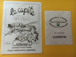 8747 - La Capite Villette Suisse Associations Des Musiciens Vétérans Fédéraux 2000 - Musique