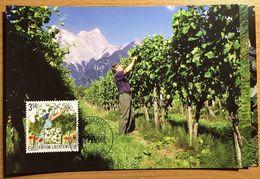 Liechtenstein 2003: Viticulture En 4 Saisons (Sommer Été) Zu 1261-63 Mi 1316-18 Yv 1257-59 MK-Set CM 216 (Zu CHF 14.00) - Vins & Alcools