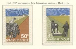 PIA  - BELGIO  - 1965  : 75° Anniversario Della Federazione Agricola -  (Yv 1340-41) - Belgique