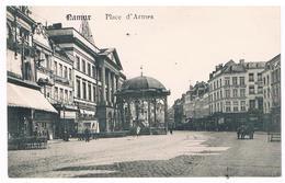 CPA : NAMUR Place D'Armes , Hôtel De Ville Et Kiosque Feldpost - Cachet Eisenbahn Namur - Namur