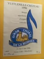 8752 - Giron Chorale De La Morges 1998  Suisse Vufflens-le-Château 1996 - Musique