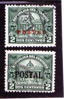B - 1927 Ecuador - Palazzo Delle Poste A Quito - Soprastampati - Ecuador