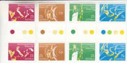 Australia 1982 MNH Scott #842-#845 Commonwealth Games Set Of 4 Gutter Pairs - 1990-99 Elizabeth II