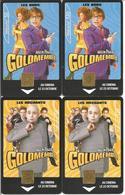 """4 Télécartes """" AUSTIN POWERS - Goldmember """" - 50 Et 120 U 09/02 ( N° 1216, 1217, 1218 Et 1219 - Cinéma) - Cinema"""