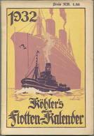 Köhlers Flotten-Kalender 1932 - 304 Seiten Mit Vielen Abbildungen - Ein Aquarell Von Professor Willy Stöwer - Kalender