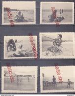 Au Plus Rapide Juin 1950 Deauville Mer Plage Enfant âne Animation Ensemble 16 Photos - Places