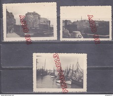 Au Plus Rapide Années 50 Honfleur Port Bateau Pêche Voiture Ancienne Panhard Dyna ? - Boats