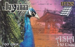 Denmark, DEN-PRE-005, 100DKK, Asia - Peacock, 2 Scans.  Expiry : 01/06/2000 - Denmark
