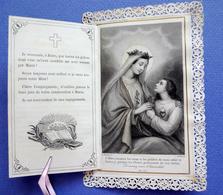 IMAGE PIEUSE  CANIVET  A SYSTÈME       ED.LETAILLE      CONSÉCRATION DE LA VIERGE 1864 - Andachtsbilder