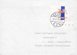 Denmark Deluxe Brotype IId NÆSTVED (Sn. 5) 1987 Cover Brief NESSELRÖDEN Germany Carrots Stamp W. Margin - Briefe U. Dokumente