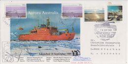 AAT 1989 Aurora Australis Launched 18/9/1989 Cover Ca Newcvastle 18 SEP 1989 (F7393) - Australisch Antarctisch Territorium (AAT)