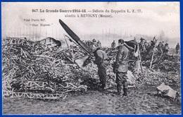MILITAIRE 1914-1918 LA GRANDE GUERRE DÉBRIS DU ZEPPELIN L. Z. 77. ABATTU A REVIGNY MEUSE 55 - VOIR NOTRE SITE Serbon63 - Ausrüstung