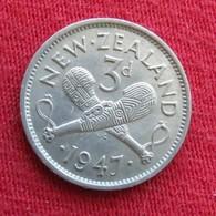 New Zealand 3 Pence 1947 KM# 7a Nova Zelandia Nuova Zelanda Nouvelle Zelande - Nouvelle-Zélande
