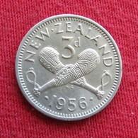 New Zealand 3 Pence 1956 KM# 25.2  Nova Zelandia Nuova Zelanda Nouvelle Zelande - New Zealand