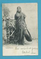 CPA Inde India Britannique Anglaise Circulé Femme Cooly - Inde