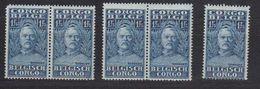 Belgisch Congo 1928 Henry Morton Stanley 1.75fr 5x (2 Zegels Zijn Niet OK - Ronde Hoek En Tanding) ** Mnh (40125A) - Belgisch-Kongo