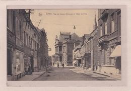 BELGIQUE - NAMUR - CINEY - Rue Du Centre (Chinrue) Et Hôtel De Ville -Petite Animation - Ciney