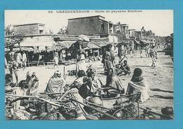 CPA Inde India Britannique Anglaise Halte De Paysans Hindous CHANGERNAGOR - Inde