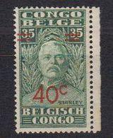 Belgisch Congo 1931 Henry Morton Stanley Opdruk 40c Op 35c ** Mnh (40125C) - Belgisch-Kongo