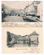 Lot De 2 CPA Dos Non Divisés : NAMUR Pont De La Sambre - Cachet Distribution D'eau - Namur