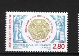 France 2912  Neuf ** ( Centenaire De La Grande Loge De France.)  Cote 1,25€ - France