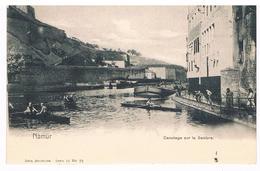 CPA Dos Non Divisé : NAMUR Canotage Sur La Sambre - Namur