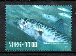 NORVEGE. N°1559 Oblitéré De 2007. Maquereau. - Fische