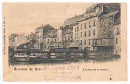 CPA Dos Non Divisé : Souvenir De NAMUR L' écluse Sur La Sambre - Namur
