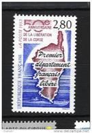France 2829  Neuf ** (Carte De La Corse)- Cote 1,50€  (sous Faciale) - France