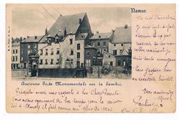 CPA Dos Non Divisé : NAMUR Ancienne Porte Monumentale Sur La Sambre - Quartier Future Maison De La Culture - Namur