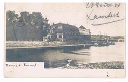 CPA Dos Non Divisé : NAMUR Le Kursaal , Une Lavandière En Avant Plan - Namur