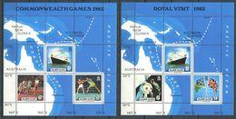 237 SALOMON 1982 - Yvert BF 10/11 - Yacht Royal Carte Geo - Neuf **(MNH) Sans Trace De Charniere - Solomon Islands (1978-...)
