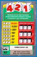 1 TICKET 421 FRANCE LOTO FDJ PETIT SPÉCIMEN NEUF DE DÉMONSTRATION POUR VITRINE NON GRATTE 7,7X12cm - NOTRE SITE Serbon63 - Billets De Loterie