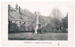 CPA : NAMUR Jardin Et Hospice D'Harscamp, Statue D' Isabelle Brunell  Et Trois Hommes Feldpost - Namur