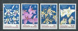 237 SALOMON 1987 - Yvert 630/33 - Noel Fleur - Neuf **(MNH) Sans Trace De Charniere - Solomon Islands (1978-...)