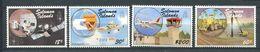 237 SALOMON 1987 - Yvert 634/37 - Satellite Avion Tour Controle - Neuf **(MNH) Sans Trace De Charniere - Solomon Islands (1978-...)